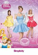 Simplicity  Sewing Patterns 1553 Misses Disney Princess Costumes Size 6-12 HH