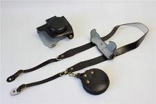 PU leather case bag strap for Olympus E-PL7 14-42mm EZ lens. battery-open EPL7