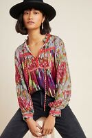 ANTHROPOLOGIE NWT Etienne PEASANT BLOUSE TOP Small $148
