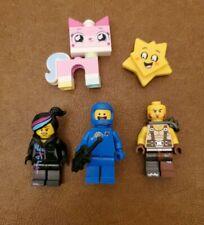 Lego The Lego Movie lot of 4 Minifigures: Wyldstyle, Benny, Maddox, Unikitty