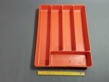 Ancien range couvert en plastique orange vintage french antique
