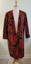 Vintage 60's 70's Mod Psychedelic Jeanne Durrell Heavy Cotton Coat Sz S/M Artsy!
