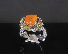 RF 597     925 Silber Ring mit natürlichen Karneol