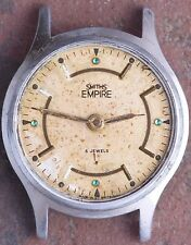 Smiths Empire Vintage Art Deco Men's Watch 33mm Case 5j Mvt Ticks Parts/Restore