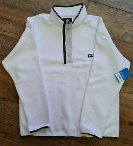 mens COLUMBIA HELVETIA white Fleece Size XL. BNWT new.
