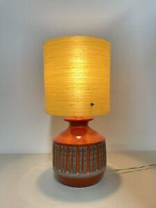Vintage 60s Mid Century Atomic Lamp Shade Spun Fibreglass Lampshade 20cm G67#