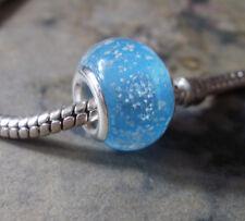 Edler Glas Bead Hellblau Türkis mit Luftblasen für Armband 0452
