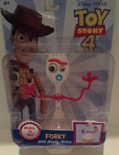 Toy Story 4 Pull 'N Go Forky With Wacky Action Figure New