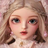 60cm BJD Puppe 1/3 Kugelgelenk Puppe BJD Doll mit Augen Make-up Kleid Mädchen