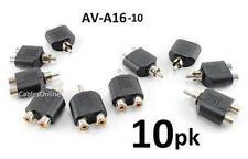 10-PACK RCA Plug to 2-RCA Female Jack Audio Video Splitter Adapter, AV-A16-10