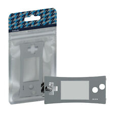 Faceplate for Game Boy Micro Nintendo screen lens replacement ZedLabz ? Silver