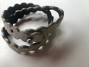 Boden Silver Leather Bracelet In Bag BNWT