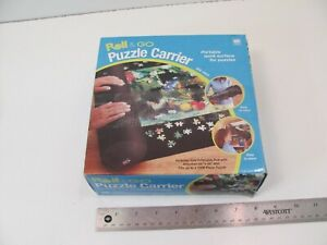 MB MILTON BRADLEY ROLL AND GO PUZZLE CARRIER