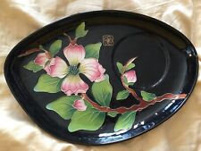 blue sky clayworks j mccall pink and black plate