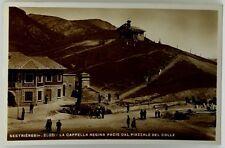 Cartolina Formato Piccolo- Sestrieres m.2035 - La Cappella Regina Pacis Dal P