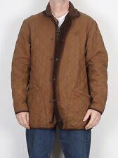 "BARBOUR Duracotton Polar Quilt Coat Jacket Long Medium 40 - 42"" Brown (5CF) Hood"