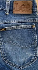 Vintage 1970s Lee Riders Jeans Talon 42 Zipper Indigo Denim 32x30 Actual USA EUC