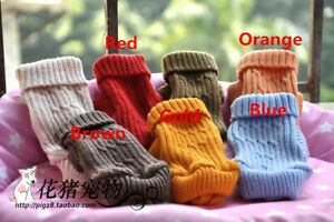 Knit Dog Sweater Clothing Chihuahua Clothes for Puppy Yorkie Teacup XXXXS XXXS