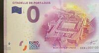 BILLET 0  EURO  CITADELLE PORT LOUIS  FRANCE  2017  NUMERO 100