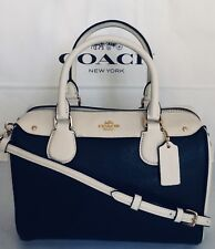 COACH F26153 COLORBLOCK MINI BENNETT SATCHEL HANDBAG IM/MIDNIGHT/CHALK NWT