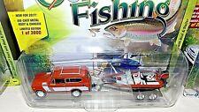 Johnny Lightning 1979 International Scout orange Boat And Trailer Gone Fishing
