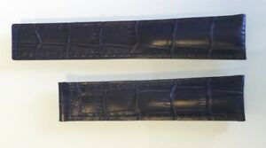 22mm Genuine Leather DARK BLUE Color Alligator-Style Band Strap for TAG HEUER