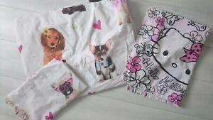 GIRL Single Bed 2x BUNDLE DUVET SET TOWEL HELLO KITTY DOGS CATS (1.2)