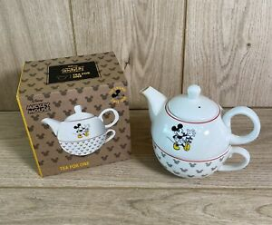 """Disney Mickey Mouse Tea For One Teapot & Cup """"If you can dream it you can do it"""""""