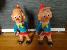 2 Pinocchio Vintage Rubbertoys Made In Italy