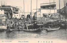 Kansai, Japan ~ Ferry At Dock & Other Boats, People ~ c 1904-14