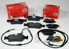 Bmw 1er E87 Zimmermann Bremsklötze Bremsbeläge Warnkabel für vorne hinten*