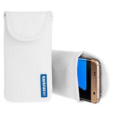 Caseflex Samsung Galaxy S7 caso bolsa piel cubierta de neopreno mejor-Blanco
