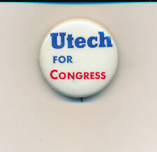 "Franklin Utech for U.S. Congress 1 1/4"" Wisconsin WI 1970 campaign button"