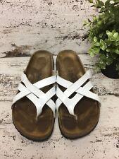 Betula by Birkenstock Vinja Woven Slide Sandal White Patent Size 39 L8