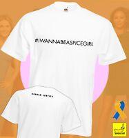 #IWANNABEASPICEGIRL Spice Girls T-Shirt Charity Comic Relief Red Nose Christmas