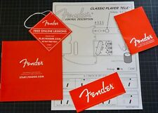 Fender Tele Classic Player control description and Fender red accessory
