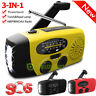 Emergency Solar Hand Crank AM/FM/WB Radio LED Flashlight USB Charger Power Bank