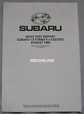 1985 Subaru 1.8 Turbo 4x4 Estate Reprinted Road test
