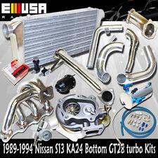 240sx KA24 MANIFOLD + Bolt On Intercooler kits+ Elbow+Downpipe + GT30 Turbo Kits