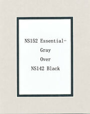 Pack of 10 16x20 Gray/Black Picture Double Mat for 11x14 Photo + Backing + Bags