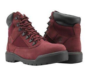 Timberland 6-Inch Waterproof Field Boot Burgundy Nubuck Men's Boots A1A2X