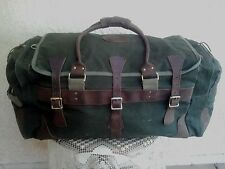 X-Large DUNN'S Outlander Sportsmans Rugged Canvas & Leather Duffle Bag Luggage