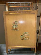 1950'S? Vintage Storkline Chicago Blond Wood Baby Bed Great Condition