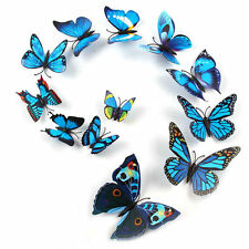 12pcs 3D Butterfly Sticker Art Design Decal Wall Decals Kids Home Decor Magnet