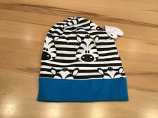 Handmade Kinder Beanie Mütze Jersey mit Bündchen  NEU KU.44-46,Zebra
