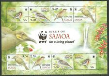 STAMPS-SAMOA. 2009. WWF –  Endangered Species Birds Miniature Sheet. SG: MS1210.