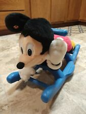 Disney - Mickey Mouse Musical Plush Rocking Horse Toy - Still Plays Music