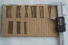 Römische Ziffern Zahlen für Uhren H = 4,0cm Messing Auswahl 1-12 I-XII vintage