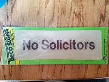 No Solicitors Self Adhesive Deco Signs Hy Ko New White Commercial House