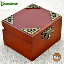 Vintage Square Wind Up Music Box : Greensleeves